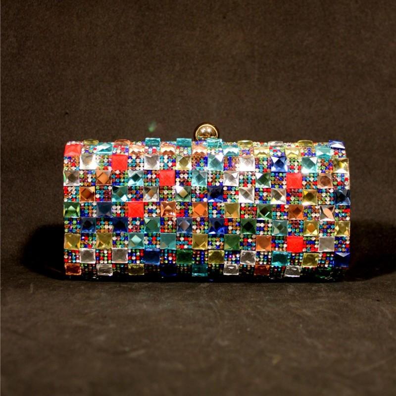 cartera de mano cristal colores