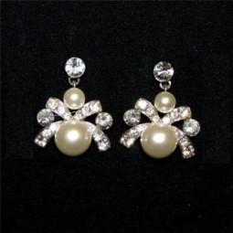 Pendientes Perlas y Lazo