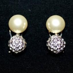 Pendientes Perla y Bola Cristales