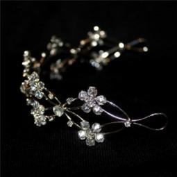 Diadema Flores y Perlas