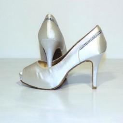 Zapatos Satén Blanco