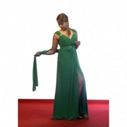 Vestido joya en gasa verde