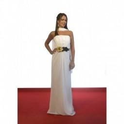 Vestido novia corte romano-griego