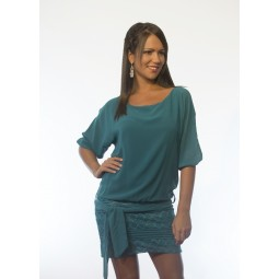 Vestido Verde con cinturón